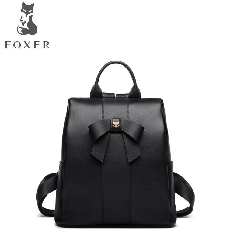 FOXER 2018 New women leather bag luxury bags designer backpack bag leather tote bag fashion Wild women leather backpack foxer 2018 new women genuine leather bag designer brand leather women backpack quality fashion casual women leather backpack