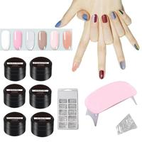 Extension Gel Kits Nail Art French Nail Tip Crystal UV Gel Slice Nail Brush