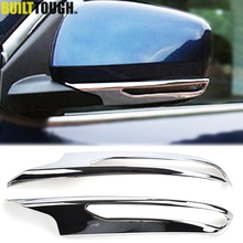 For Renault Kadjar 2015 2016 2017 2018 Chrome Side Door Rear View Mirror Strip Cover Molding Protector Overlay Trim Car Styling