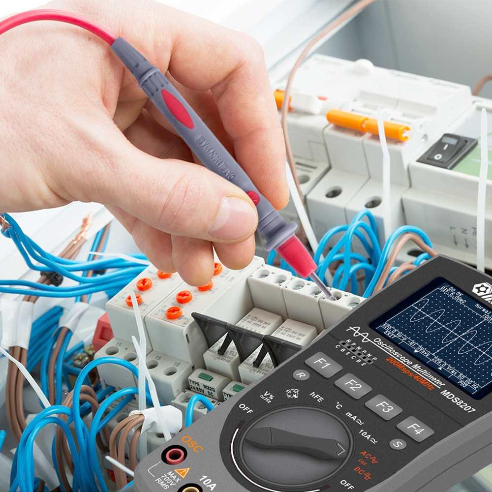 MUSTOOL MDS8207 inteligente 2 en 1 de almacenamiento Digital Scopemeter multímetro 40 MHz, 200 Msps/S una llave de osciloscopio medidor - 4