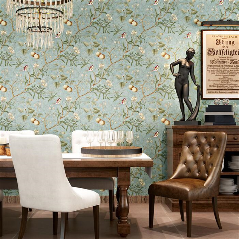 ФОТО  beibehang American pastoral wallpaper retro do the old apple tree papel de parede wallpaper living room background wall paper