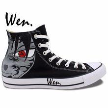 dc206a4518df70 Wen Hand Painted Shoes Design Custom Naruto Shippuuden Uchiha Sasuke Uchiha  Itachi Men Women High Top Canvas Sneakers