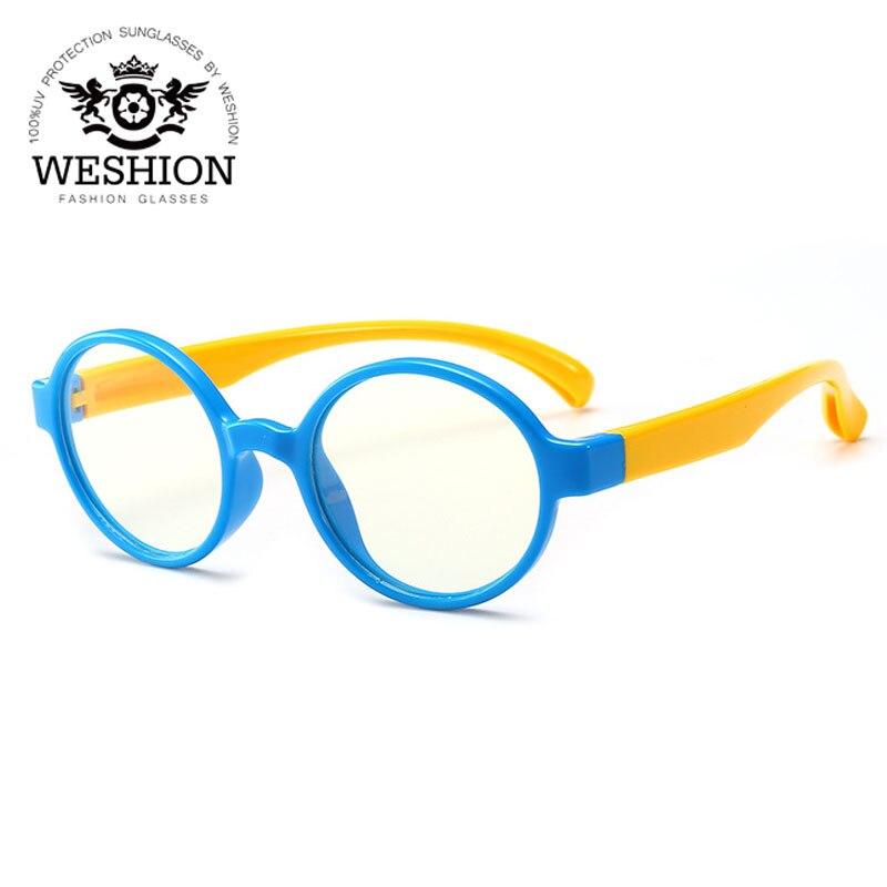 2018 kinder Sonnenbrille Computer Brillen Harz TR90 Sicherheit Rahmen Blau Licht Blockieren Gläser Für TV Handy Brillen UV400
