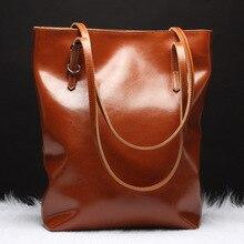 Women Leather Handbags Oil Wax Genuine Leather Handbags Lady Luxury Handbags Women Bags Designer Shoulder Messenger Bags YS1184