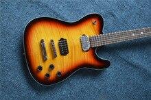 2016 neue LP TL elektrische gitarre custom shop gelb-rot original OEM/Chinesische mahagoni holz körper gitarre kopf,