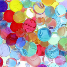 2000 Pcs/packet colored orbeez soft crystal water paintball grow water beads grow balls water gun toys
