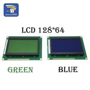 Image 1 - LCD Board Yellow Green Screen 12864 128X64 5V Blue Screen Display ST7920 LCD Module For Arduino 100% New Original