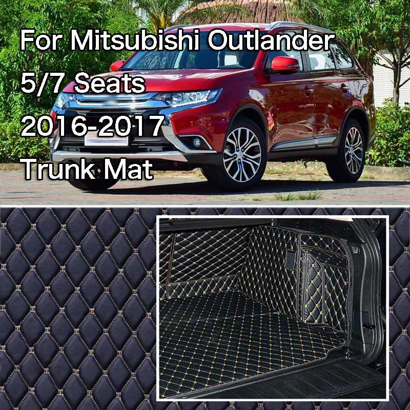 PU кожаный задний багажник Грузовой лайнер протектор мат задняя крышка сиденья для Mitsubishi Outlander 2016 2017
