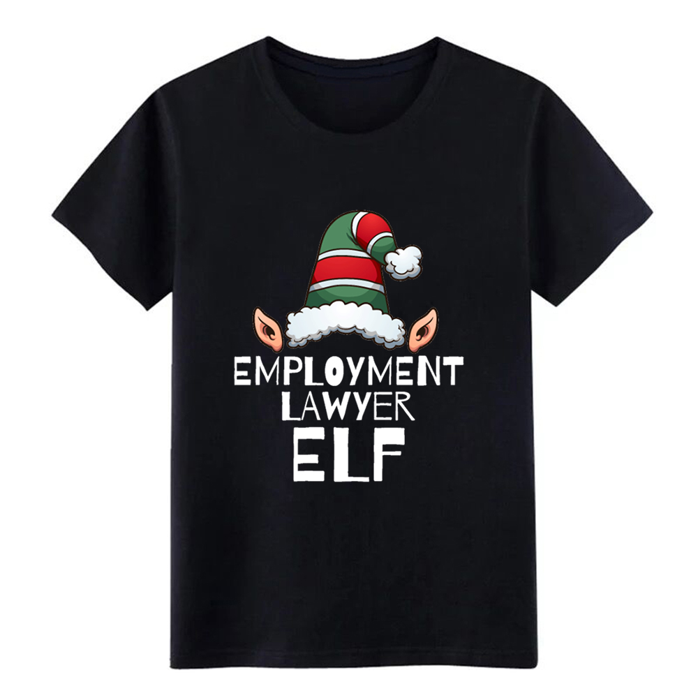 Men's Employment Elf Christmas Holidays Xmas Elves Attorney Law School t shirt designer tee shirt O-Neck male Interesting shirt image