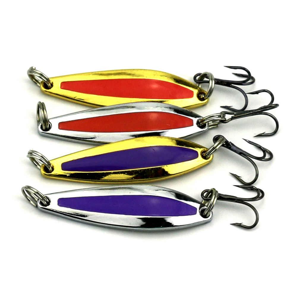 8 шт. 7,6 г 4,7 см 8 # японские крючки, блесна с металлическими блестками, жесткая блесна, ложка, рыболовные приманки, рыболовные снасти