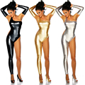 Bright color rompers club jumpsuits for women Female Sexy Leather Latex Bodysuit One Shoulder Foot Unique Pole Dance Leotards