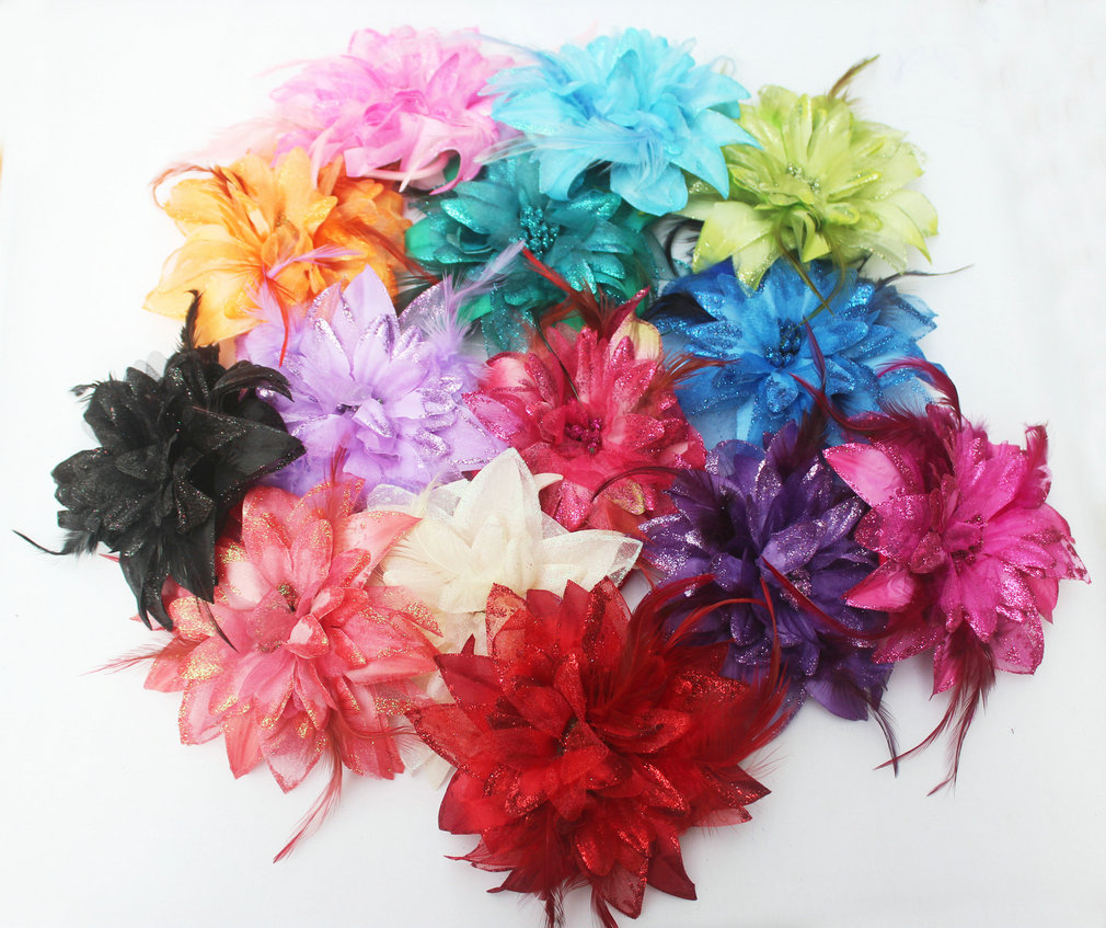 Hot Sale Hair band Newest Fashion big flower headwear Brooch Women hair clip hairpin dance party BD005