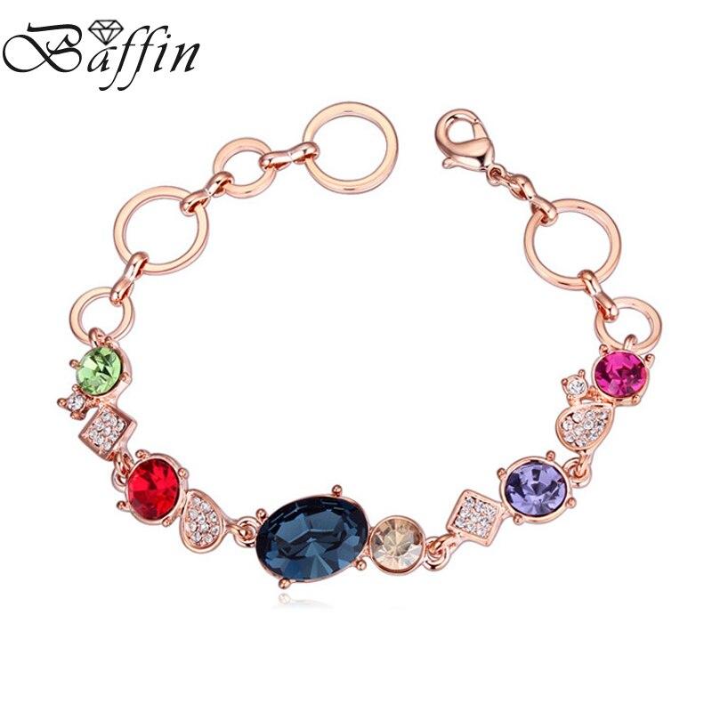 06c5bc18a868 Baffin Rosa oro color Pulseras y brazaletes cristales de Swarovski Amuletos  pulsera joyería de moda para las mujeres