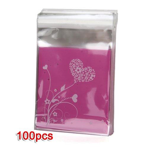 Bolso de embrague UESH-100pcs Bolso HEART púrpura del regalo de - Para fiestas y celebraciones - foto 2