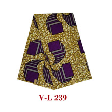 2019Excellent design veritable dutch real cotton wax,african printed fabric high quality hot sale dress cloth V-L 239