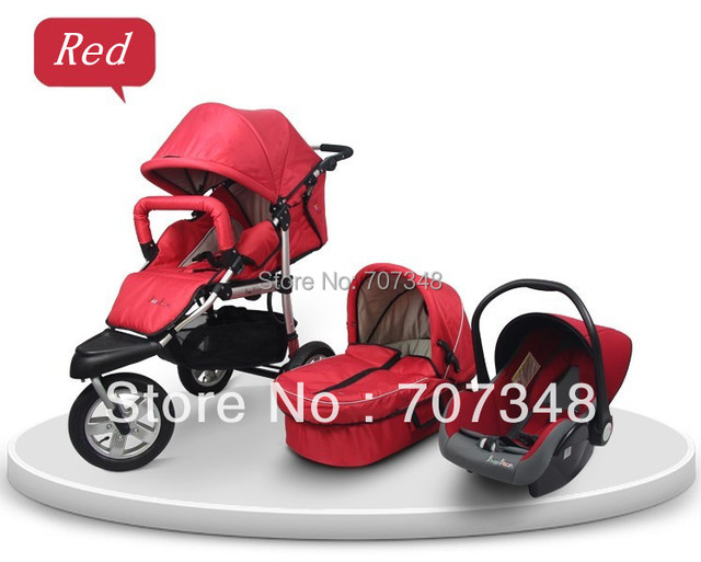 Stroller Car Seat5 Point Safety BeltLarge Shopping BasketPushchair Pram