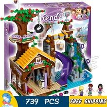 739pcs Friends Adventure Camp Tree House 10497 Model Building Bricks Blocks Emma Stephanie Joy Children Toy Compatible With lego