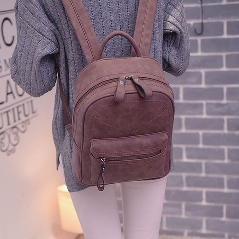 Women Backpack Leather Bag Women Bag Small Women PU Backpack Shoulder Bags School Backpacks For Teenagers Female Sac A Dos