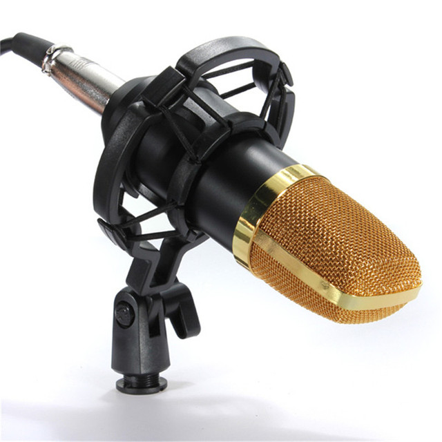 Audio processing Wired Condenser Studio Microphone for BM700 Karaoke Stand Holder Skype MSN Chat Karaoke Recording KTV
