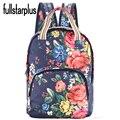 2017 de La Moda de nylon Estrella Universo Espacio Bolsas Escolares Para Adolescentes Plus Floral Mochila Impresión Mochila Mujeres