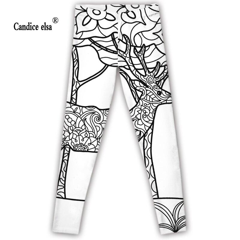CANDICE ELSA leggings women elastic sexy fitness legging lady printed wear workout female pants plus size wholesale