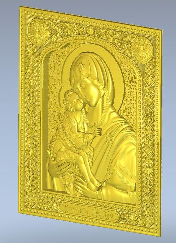 Icona_Donskaya for cnc in STL file format 3d model relief mother of god intercession of the theotokos 3d model relief figure stl format religion 3d model relief in stl file format