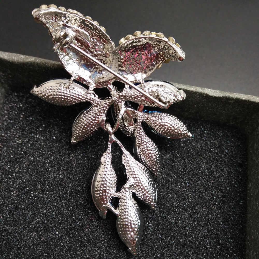 CINDY XIANG Большой Хрустальный цветок большая брошь виноград булавки и броши свадебные ювелирные изделия бижутерия корсаж платье пальто аксессуары