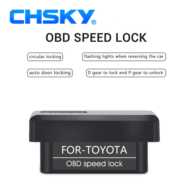 CHSKY Car OBD speed lock For Toyota COROLLA RAV4 Reiz Prius High lander auris which is plug play OBD speed lock car accessories