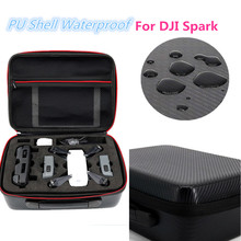 HOBBYINRC for DJI Spark Drone Bag PU Shell Waterproof Storage Bag Carry Case handbag Box for DJI Spark Drone Accesssories gizcam nylon carrying storage bag handbag travel protective case pouch for dji spark drone helicopter