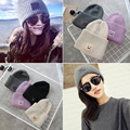 Korean version of the new autumn and winter thick square face smiley face wool hat knitted hat lady hat tide