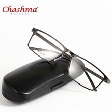 CHASHMA Brand Eyewear Glasses Frame Titanium Men Computer Clear Optical Prescription Designer Eyeglasses Myopia Reading P8184