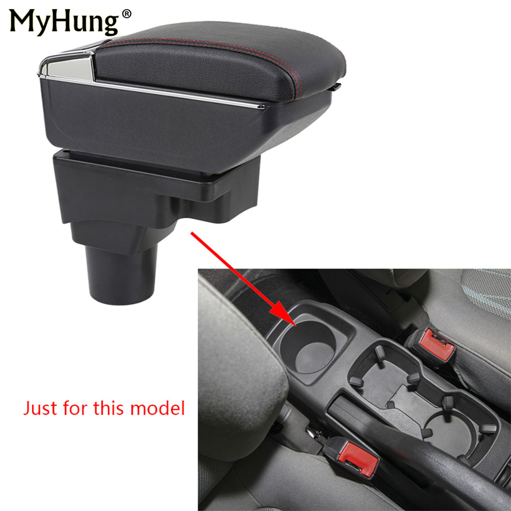 For Chevrolet Aveo Sonic Lova T250 T300 Armrest box Central Console Arm Store Candy box cup