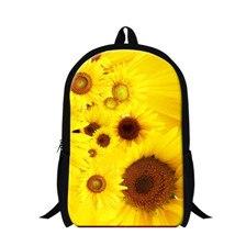flowers Printing backpack female Student School bags