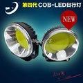 1 pc de alumínio DO CARRO DRL rodada 3.5 polegada COB LED diurnas luzes 12 V 24 V offroad ATV IP67 luz de trabalho nevoeiro olho de águia E mark
