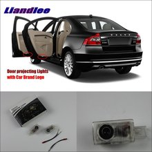 Liandlee Plug and Play Car Courtesy Doors Lights For Volvo S80 2013~2014 / Brand Logo Projector Welcome Light Ghost Shadow Lamp liandlee plug and play car courtesy doors lights for volvo s80 2013 2014 brand logo projector welcome light ghost shadow lamp