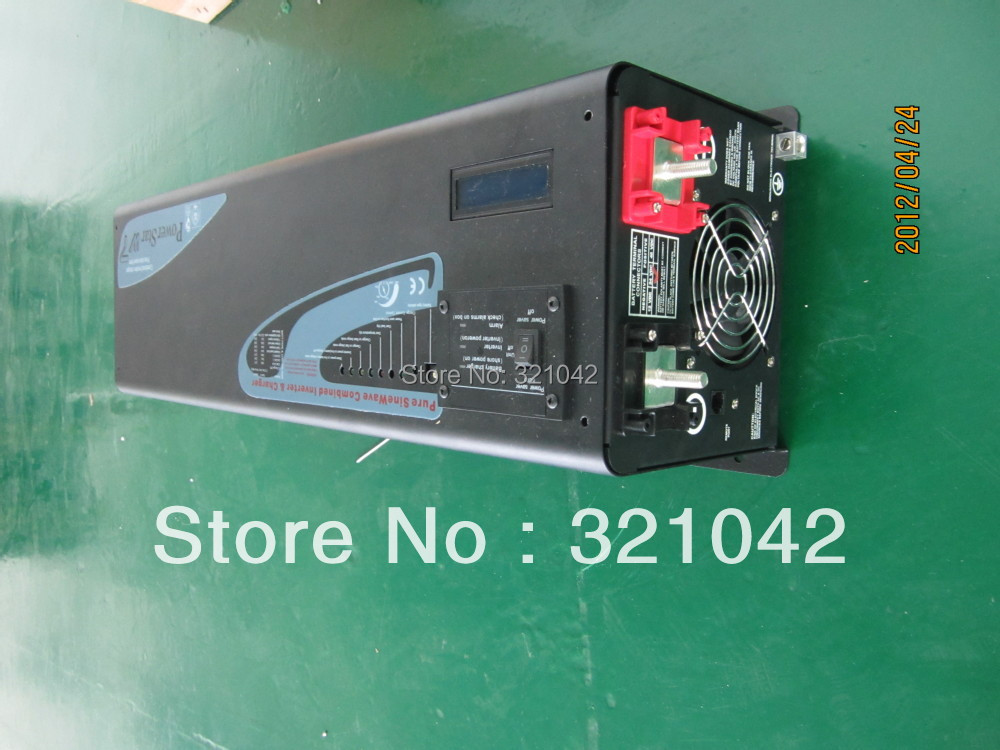 цена на Single phase off grid 5000W 48V Low Frequency hybrid pure sine wave inverter build with solar charger controller