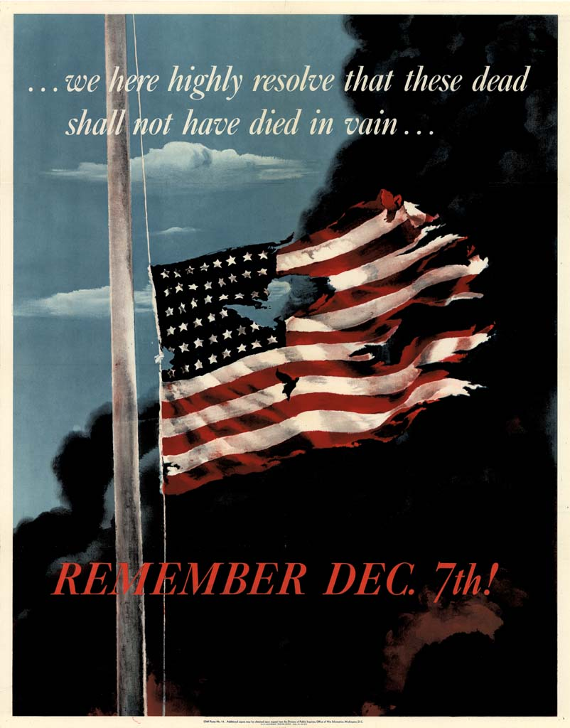 Pearl Harbor WW2 USA Army Military Vintage Poster