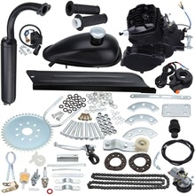 Black 80cc 2 Stroke Gas Motor Muffler Motorized Bicycle Bike Engine Gas Kit