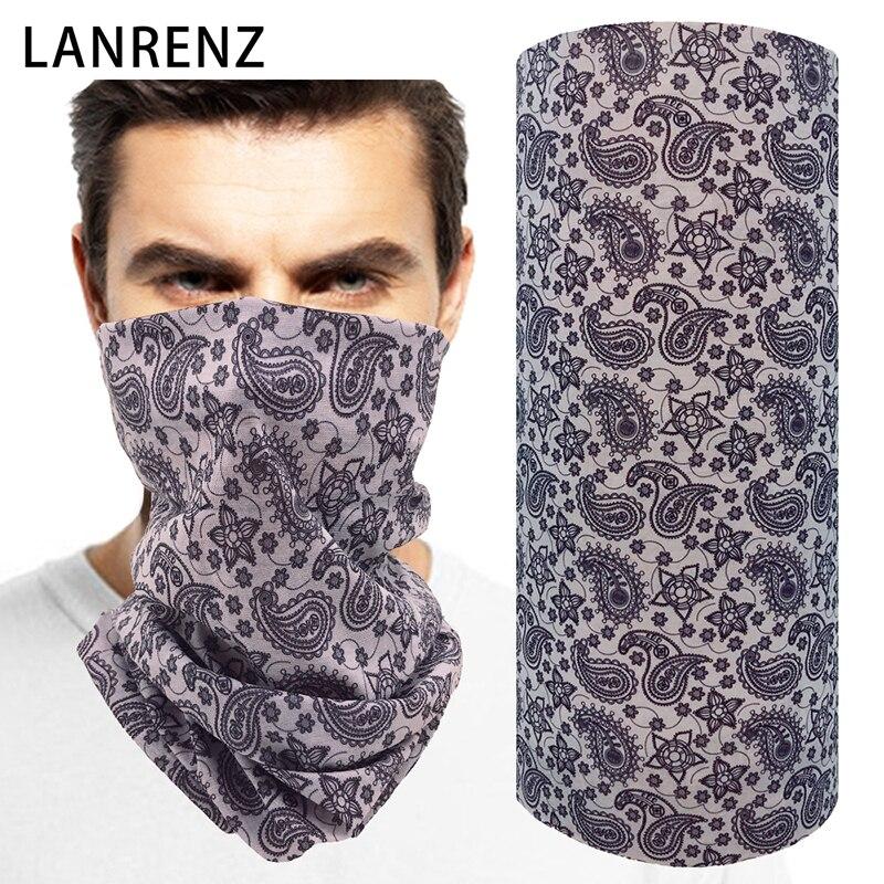 2018 Cashew flower print Mens seamless magic scarf Multifunctional dust-resistant tubular headdress riding sun face mask