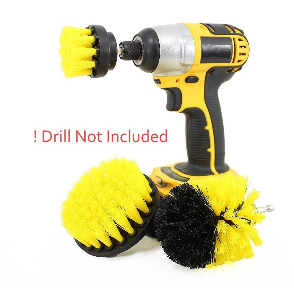 3pcs Drill Brush Set Power Scrubber Brush For Car Bathroom