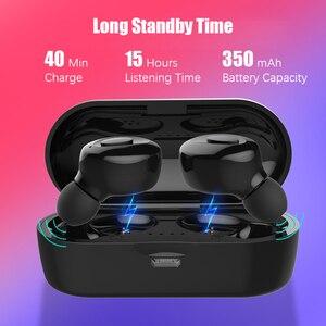 Image 2 - Hadinas tws 이어폰 무선 블루투스 5.0 이어 버드 true wireless stereo 핸즈프리 미니 이어 버드 방수 무선 헤드셋