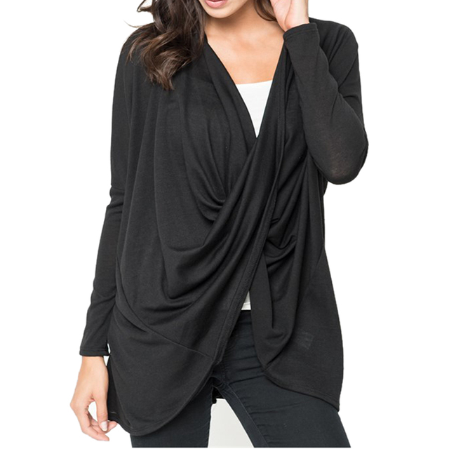 1f38cf5a3f1 Women Loose Deep V Neck Solid Color Bat Sleeves T-shirt Trending Style in  China