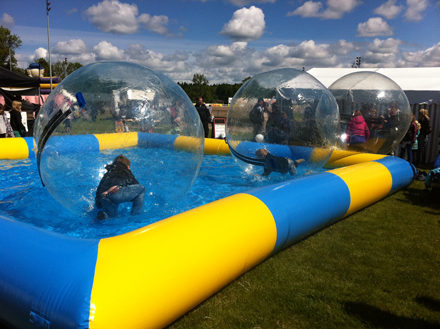 6x8 meters inflatable aqua pool playground