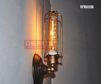Vintage Industrial Wall Lamp Light Iron Wall Sconces Lighting for Bedroom Kitchen Corridor Flute Retro Style Bedside Lamp