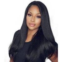 Прямые человеческих волос Full Lace парики предварительно сорвал с волосы младенца 130% Плотность парик для Для женщин натуральный Цвет волосы
