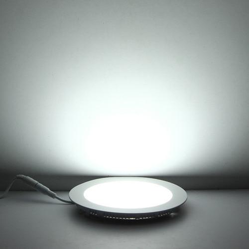 Купить с кэшбэком 5X Ultra Thin Led Panel Downlight 3w 6w 9w 12w 15w 18w LED Round Ceiling Light Built-in AC85-265V  Light SMD2835