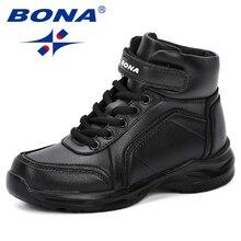 BONA bottes synthétiques pour enfant, chaussures dautomne, chaussures de marche pour garçons, baskets de sport à haute température, nouvelle collection 2018
