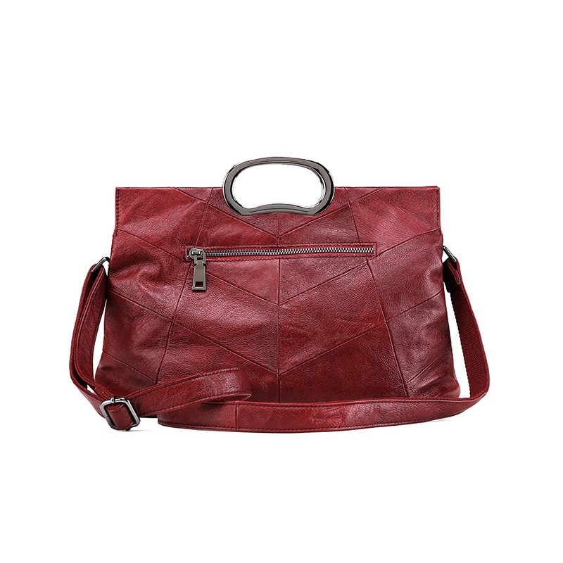 Women Handbag Casual Tote Genuine Leather Shoulder Bags For Ladies Crossbody Bag Burgundy High Quality Famous Brands Bags Female