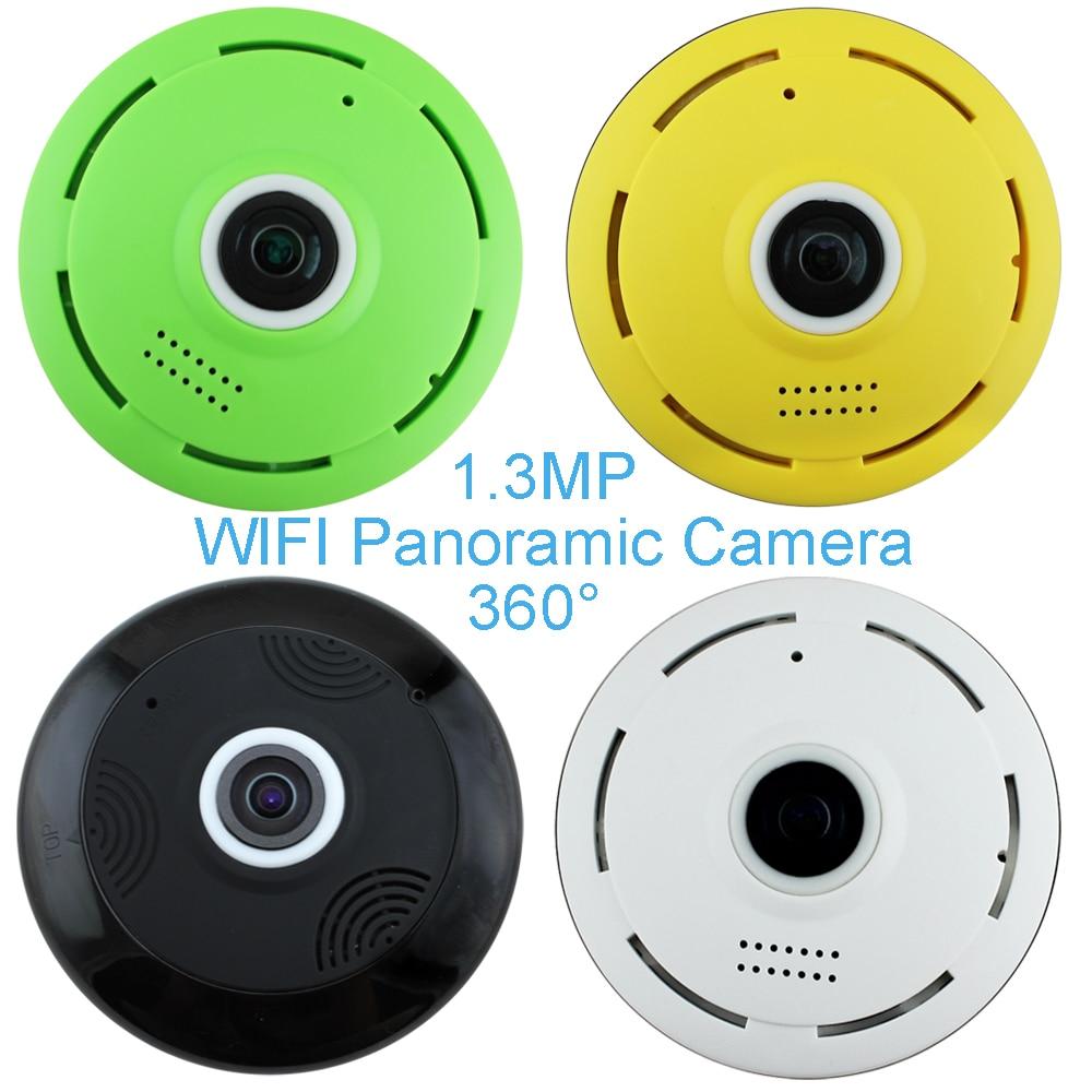 ФОТО 1 PCS 360 degree IR Smart wifi Panoramic Camera Wireless Fisheye IP camera 960P 1.3MP Home security Night version surveillance