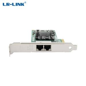 Image 2 - LR LINK 9222PT כפולה יציאת Gigabit Ethernet Lan כרטיס רשת 10/100/100 Mb PCI Express רשת מתאם אינטל I350 T2 תואם